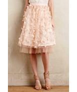 Anthropologie Fluttered Fete Midi Skirt 3D Flowers by Eva Franco Sz 2 - ... - $125.99