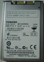 "1.8"" 160GB Micro SATA Hard Drive Toshiba MK1633GSG Free USA Shipping"