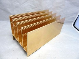 Vintage Mid Century metal letter organizer for desk, office - $18.99