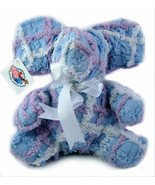 "Chenanimals Chenille Stuffed Animal 100% Cotton 9"" Purple & Blue Seated ... - $11.96"