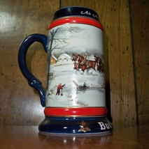 "Budweiser ""An American Tradition""  1990 Holiday Stein - CS112 - $14.96"