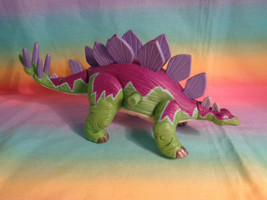 Imaginext Stegosaurus Dinosaur Purple & Green Jointed with Moving Tail -... - $5.89