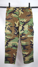Vtg 1996 Woodland Camo Hot Weather Trousers Army Combat Cargo Utility Pa... - $19.79