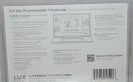 LUX TX500U Programmable Thermostat Fully Featured For Comfort White image 4