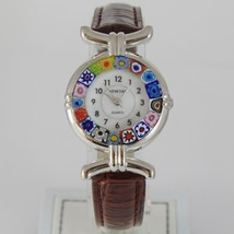 ANTICA MURRINA VENEZIA QUARTZ WATCH 27 MM, BROWN, MURANO FLOWER GLASS