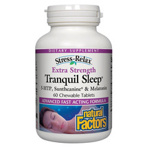 Natural Factors Stress-Relax Extra Strength Tranquil Sleep, 60 Chewable Tablets - $34.97