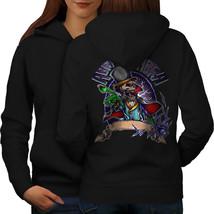 Magician Skeleton Skull Sweatshirt Hoody  Women Hoodie Back - $21.99+