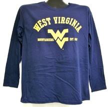 West Virginia Mountaineers Blue Long Sleeve Shirt Medium - $15.73