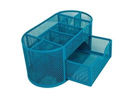 Mesh Desk Organizer 9 Components Office Accessories Supply Caddy with Dr... - $15.73