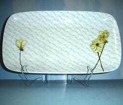 "Lenox Simply Fine Watercolor Citrus Appetizer Tray Rectangular Platter 14"" New - $36.90"