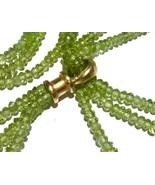 Yossi Harari PERIDOT 24k Gold adjustable tie scarf Necklace August Birth... - $14,193.00