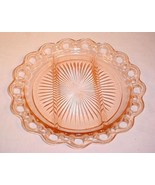 """VINTAGE ANCHOR HOCKING OLD COLONY PINK DEPRESSION GLASS 10"""" DIVIDED PLATE - $27.69"""
