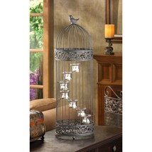 "Birdcage 7 Cup Stair-Step Staircase Tealight Candle Holder Centerpiece 28"" in.  - $42.45"