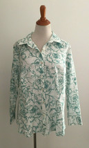 Talbots Woman Petites Button Front Floral Print Shirt sz 18WP New NWOT - $28.70