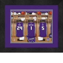 Personalized Sacramento Kings 12 x 16 Locker Room Framed Print - $63.95