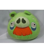 """Angry Birds Green Grandpa Pig w/Mustache and Sound Plush - 5"""" Commonweal... - $29.69"""