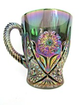 IMPERIAL COFFEE MUG Amethyst Carnival HOBSTAR PINWHEEL Flower * FREE USA... - $58.41