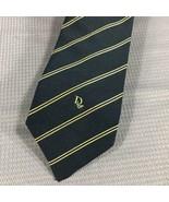 "Christian Dior Classic Pinstripe Executive Tie Necktie Navy Blue Gold 3""... - $16.80"