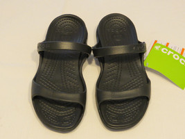 00ad7c144a11c Crocs Cleo Black Black Relaxed Fit Sandal Womens W 7 Croslite material NWT  -  29.33