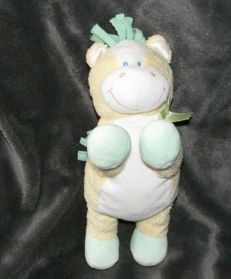 "9"" BABY KIDS PREFERRED YELLOW HORSE PONY RATTLE STUFFED ANIMAL PLUSH TOY LOVEY image 3"
