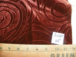 Dark Brown Swirl Print Velvet Fabric / Upholstery Fabric  1 Yard  R107 - $29.95