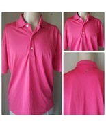 Greg Norman Playdry Hombre Rojo Performance Golf Tenis Deportivo Polo M - $39.89