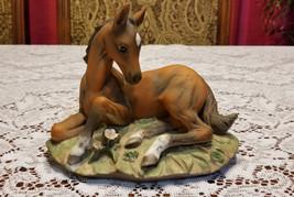 Vintage Colt Foal Horse 1982 Homco Masterpiece Porcelain Figurine - $9.99