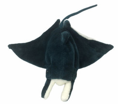 "Wild Republic Plush Manta Ray Stingray 12"" Head To Tail Blue Animal - $27.27"