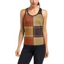 Womens Sportswear, Brown Checker Style Racerback Tank Top - $24.99