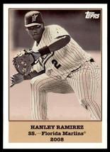 2008 Topps Trading Card History Hanley Ramirez #52 Insert - $1.59