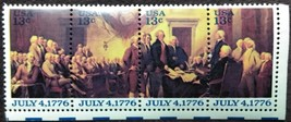 Four MNH 1976 U.S. Stamps July 4, 1776 - $2.49