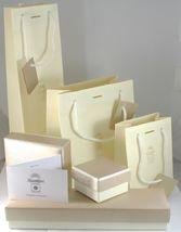 Ohrringe Anhänger Gold Gelb Weiss 18K, Drei Quadrate mit Zirkonia Kubische image 3