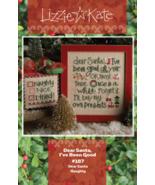 Dear Santa LK187 christmas cross stitch chart Lizzie Kte  - $11.25