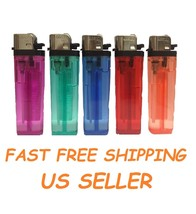 10 Full Size Disposable Classic Cigarette Lighters Colorful Multipurpose... - $6.59
