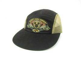 Disney Animal Kingdom Hat Side Vents Black Brown Tan World 98 Parks Walt Safari - $14.80