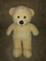 "Build A Bear Workshop Beige Teddy 15"" Stuffed Animal 2010 Ages 3+ Surface... - $17.81"