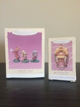 VTG NIB Hallmark LOT Set EASTER Bunny Christmas Ornament APPLE BLOSSOM L... - $21.99