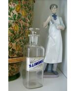 RARE Glass Label Apothecary Bottle~LUG~1800's~TR. LIMONIS~TINCTURE OF LEMON - €235,97 EUR