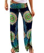 Ladies Blue Floral Print Fashion Harem Women's palazzo Women's Beach Clo... - $17.99
