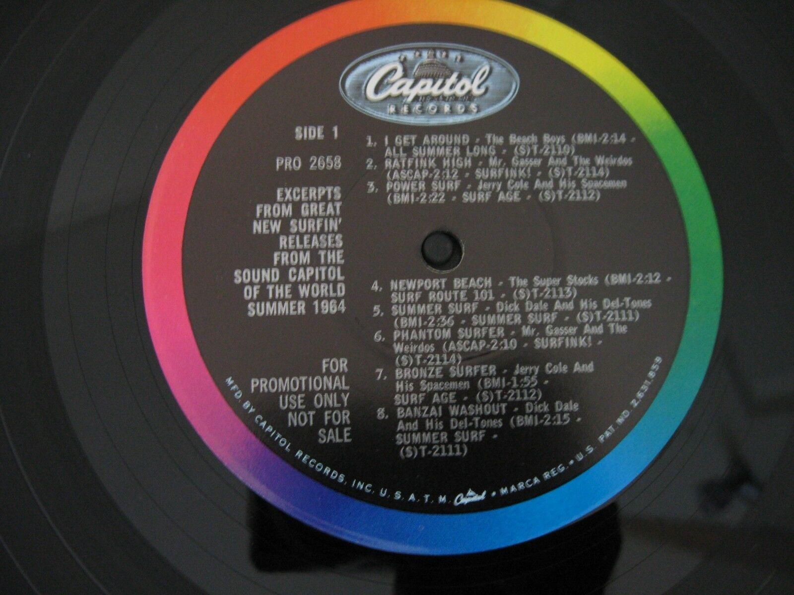 Big Surfing Sounds Are On Capitol PRO2658 Mono RARE Promo Beach Boys Dick Dale image 4