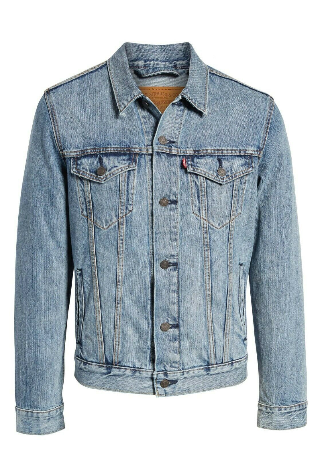Levi's Men's Cotton Button Up Denim Jeans Trucker Jacket Light Blue 723340232