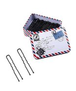 Iron Boxed Black U-shaped Hairpin Pins Slides Hair Clips Grips Clamps Sa... - $12.17