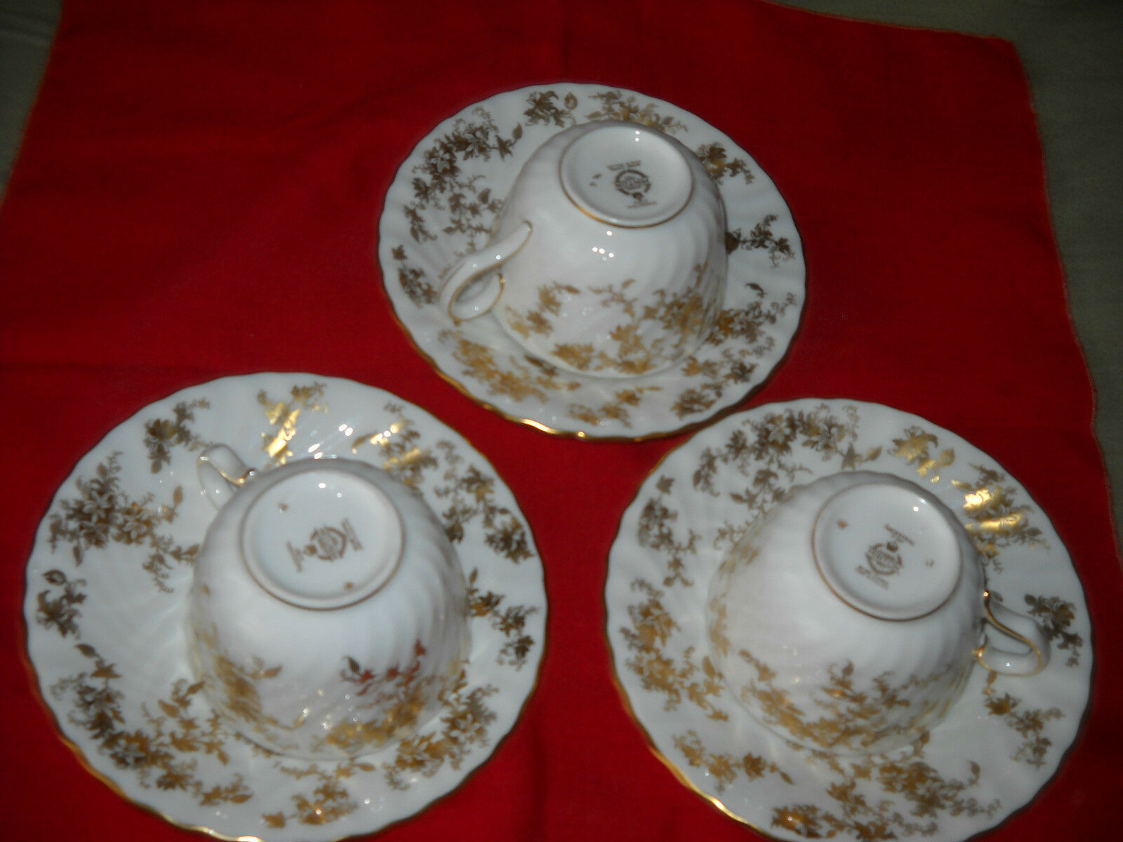 MINTON ANCESTRAL Cups and Saucers (6 sets available) - $25.99