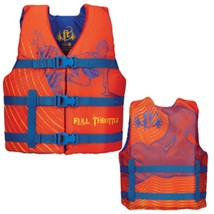 Full Throttle Character Life Vest - Youth 50-90lbs - Orange - $33.20