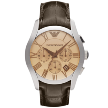 Emporio Armani AR1634 Men's Classic Brown Leather Dress Watch - £140.94 GBP