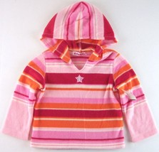 NWT Just Friends Girls Pink Striped Zeroproof Fleece Pullover Hoodie, 2T... - $9.99