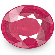IGI Certified MOZAMBIQUE Ruby 1.24 Cts Natural Untreated Pink Red Oval - $1,860.00