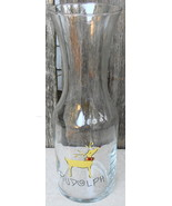 Retired Pottery Barn/Williams-Sonoma Reindeer Rudolph Glass Carafe/Decanter - $60.00