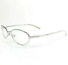 Christian Dior CD3605 70B Eyeglasses Frames Silver Wire Oval Round Full Rim 135 - $74.79