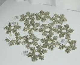 Sage Company XAO11985PL Glittered Snowflake Ornament 12 Pieces Platinum Color image 1